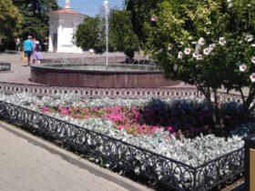 Цветник у малого фонтана